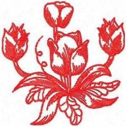 Tulip Plant embroidery design