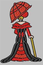 Antique Lady embroidery design