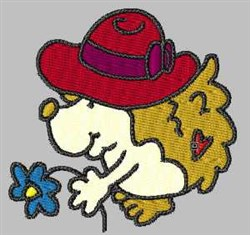 Red Hat Hedgehog embroidery design