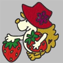 Strawberry Hedgehog embroidery design