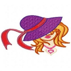 Red Hat Lady embroidery design