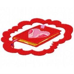 Love Book embroidery design