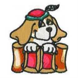 Red Hat Beagle embroidery design