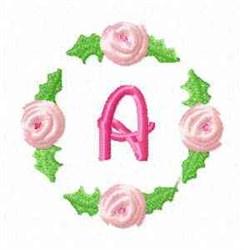 Rosebud Alphabet A embroidery design