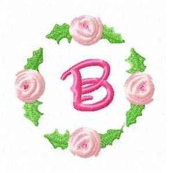 Rosebud Alphabet B embroidery design