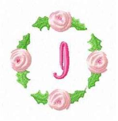 Rosebud Alphabet I embroidery design