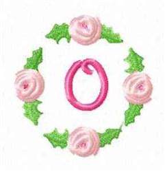 Rosebud Alphabet O embroidery design