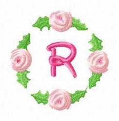 Rosebud Alphabet R embroidery design