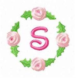 Rosebud Alphabet S embroidery design