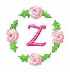 Rosebud Alphabet Z embroidery design