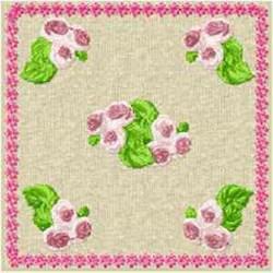 Rosebud Block embroidery design