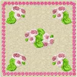 Rose Bud Block embroidery design