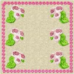 Quilt Block Rosebuds embroidery design