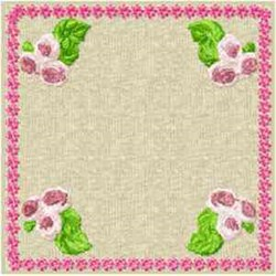 Quilt Block Floral embroidery design