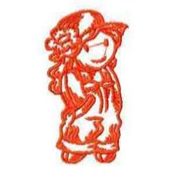 Red Work Doll embroidery design