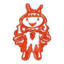 Redwork Rag Doll embroidery design