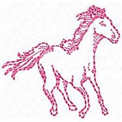 Redwork Horse embroidery design