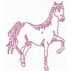 Red Work Horse embroidery design