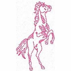 Redwork Stallion embroidery design