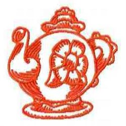 Redwork Pot embroidery design