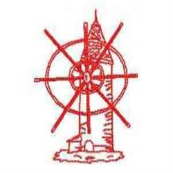 Red Work Windmill embroidery design