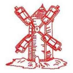 RW Windmill embroidery design