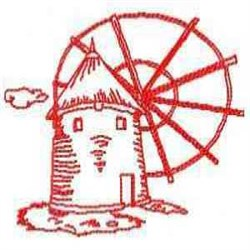 RW Wind Mill embroidery design