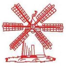 RW Dutch Windmill embroidery design