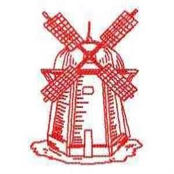 RW Windmill Scene embroidery design