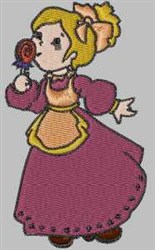 Girl With Rose embroidery design