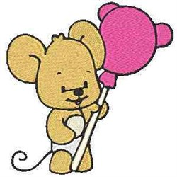 Baby Mouse embroidery design