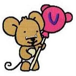Lollipop Letter V embroidery design