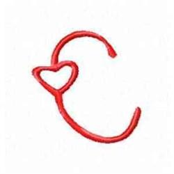 Valentine Alphabet C embroidery design