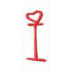 Valentine Alphabet I embroidery design