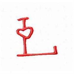 Valentine Alphabet L embroidery design
