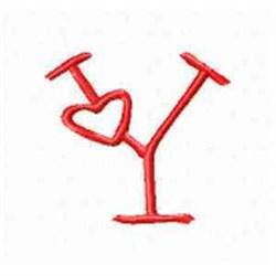 Valentine Alphabet Y embroidery design