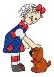 Raggedy & Dog embroidery design