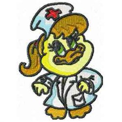 Nurse Duck embroidery design