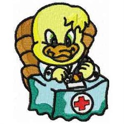 Physician Duck embroidery design