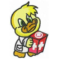 Red Cross Duck embroidery design
