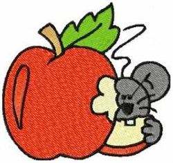 Mouse & Apple embroidery design