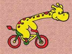 Bicycle Giraffe embroidery design