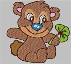 Bear & Clover embroidery design