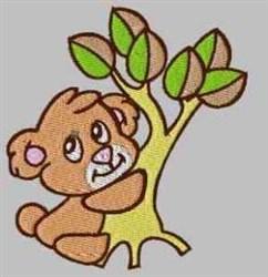 Bear & Tree embroidery design