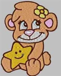 Bear & Star embroidery design