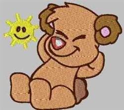 Sunny Bear embroidery design