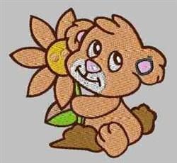 Flower Bear embroidery design