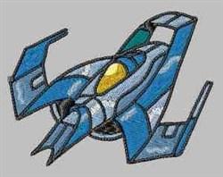 Rocketship embroidery design