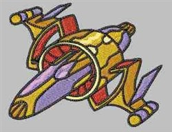 Space Ships embroidery design