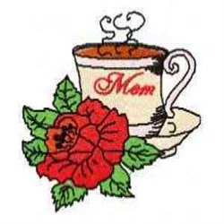 Moms Coffee embroidery design